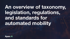 An overview of taxonomy, legislation, regulations, and standards for automated mobility