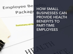 How Small Businesses Can Provide Health Benefits to Part-Time Employees