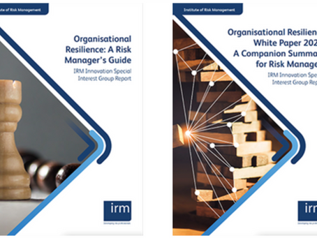 Organisational Resilience - New guidance from IRM Innovation Special Interest Group