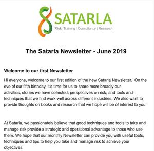 Satarla Newsletter