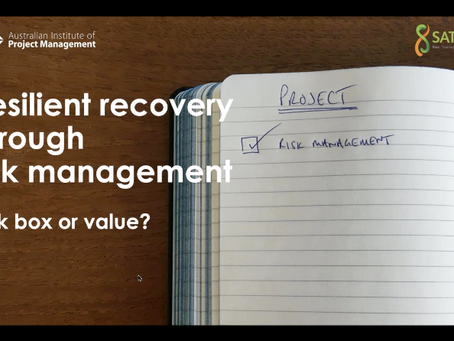 Resilient recovery through risk management