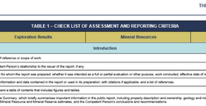 Edmund Sides - Using Table 1 from the CRIRSCO Reporting Codes & Standards to provide a framework...
