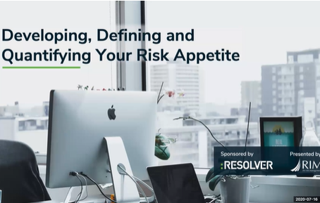 Developing, Defining and Quantifying Your Risk Appetite