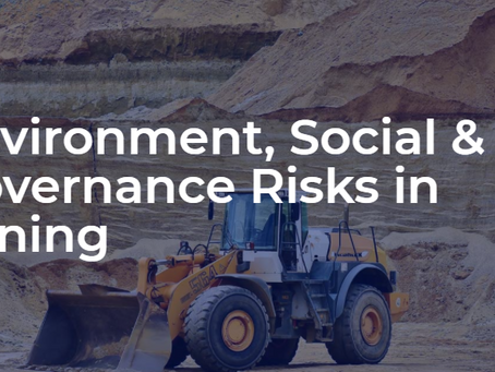 Environment Social and Governance Risks in Mining