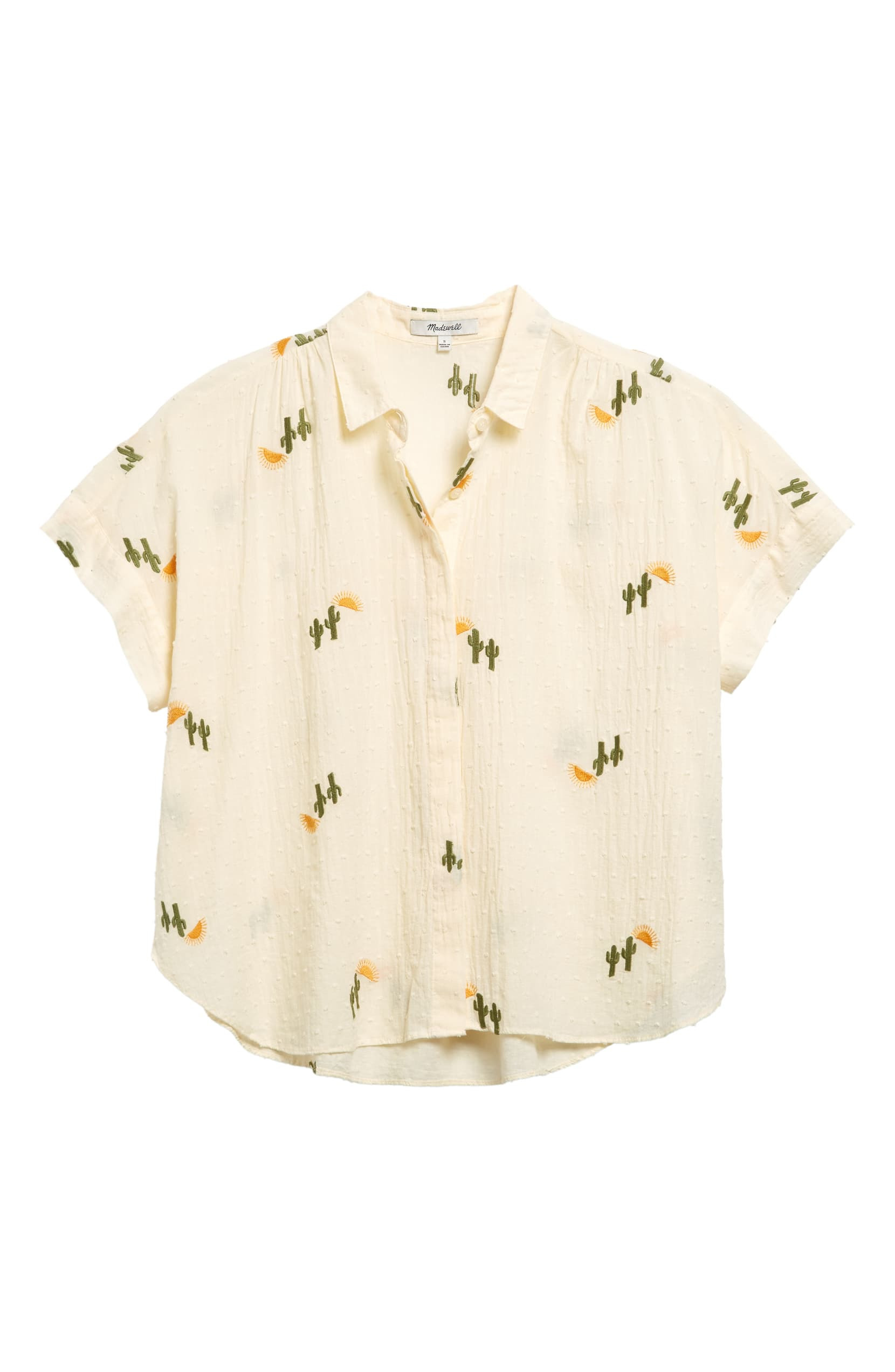 Madewell Cactus Embroidered Shirt