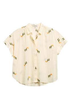 Madewell Cactus Embroidered Shirt