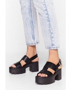 Nasty Gal Raise the Roof Cleated Platfor