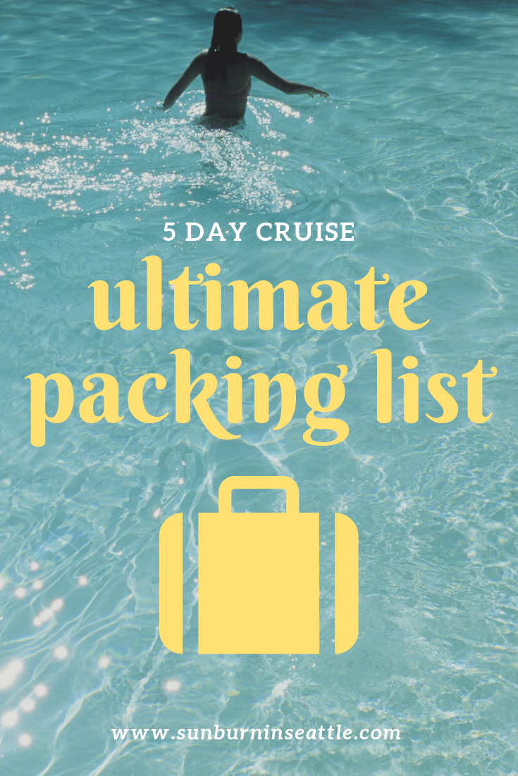 Ultimate Packing List | Sunburn in Seattle