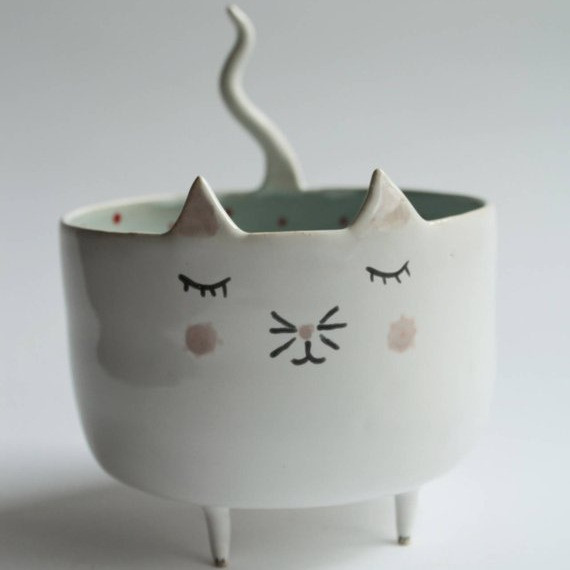 Maurice the Cat Ceramic Planter | Sunburn in Seattle