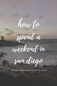 How to Spend a Weekend in San Diego | Sunburn in Seattle