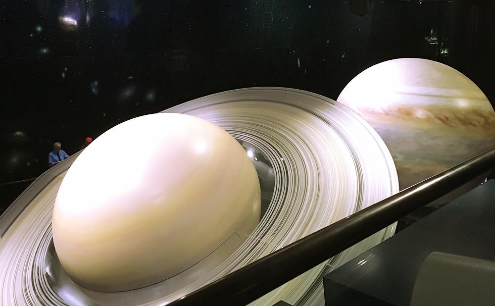 Model of Saturn in Griffith Observatory | Sunburn in Seattle
