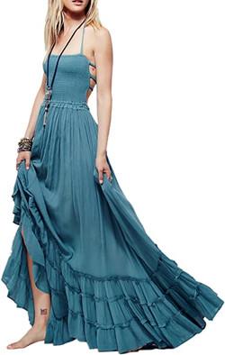 Cotton Backless Dress