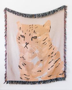Etsy Cat Throw Blanket
