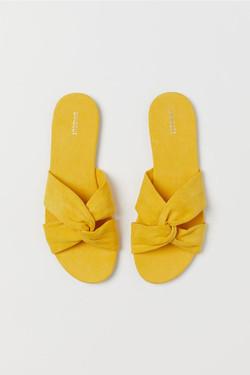 H&M Yellow Slides