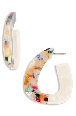 Madewell Colorblock Acetate Earrings
