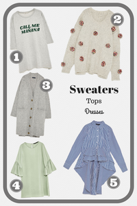 Sweaters Tops & Dresses - Zara | Sunburn in Seattle