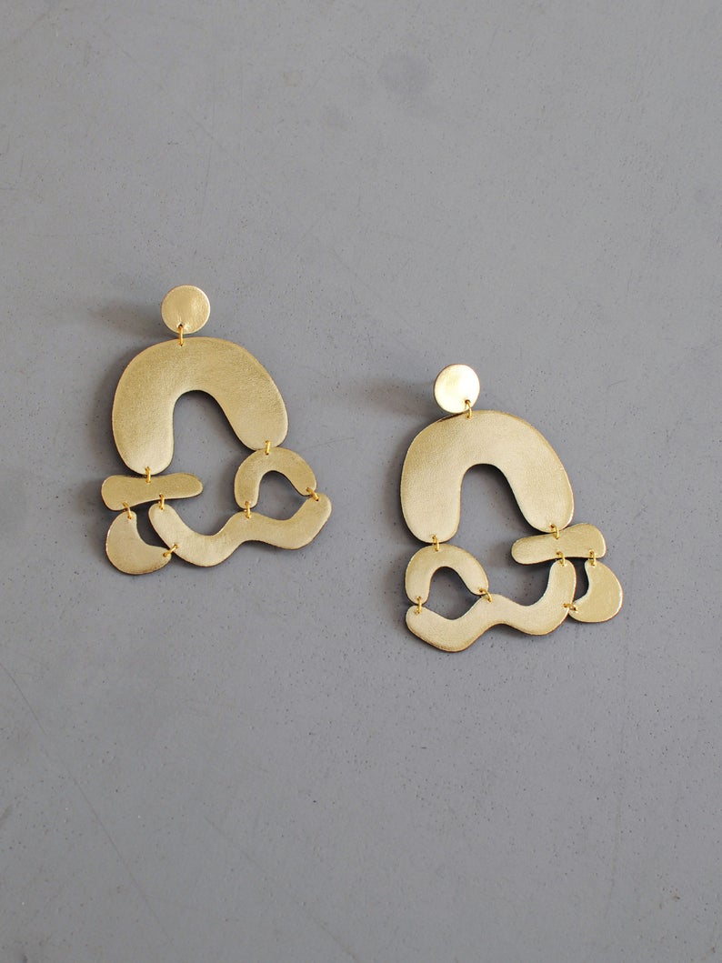 Etsy Arched Abstract Earrings