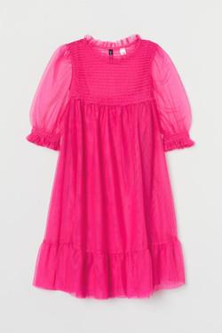 H&M Smocked Mesh Dress
