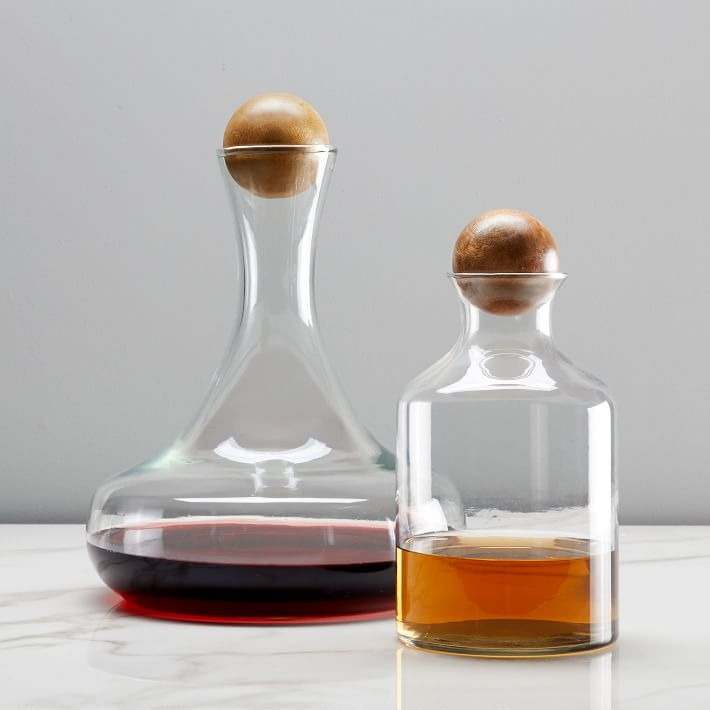 West Elm Glass Decanters