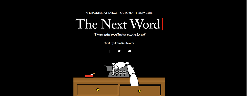 New Yorker Hero Image - Robotic Arm coming out through an open drawer to type on a typewriter.