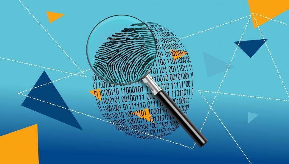 magnifying-glass-over-digital-id-fingerp