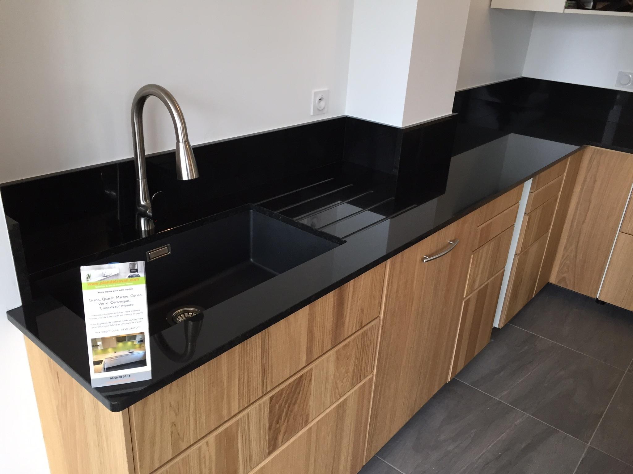 plan de travail granit noir mat. Black Bedroom Furniture Sets. Home Design Ideas