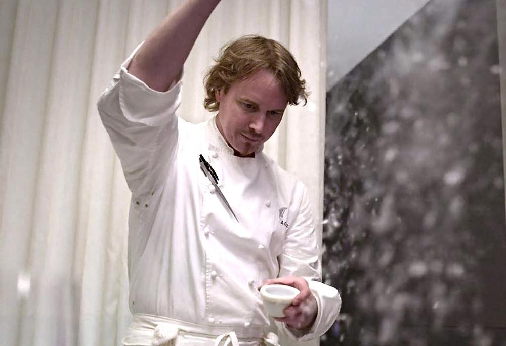 Grant Achatz Head chef and owner of 3 Michelin Stars Alinea restaurant in Chicago, Illinois