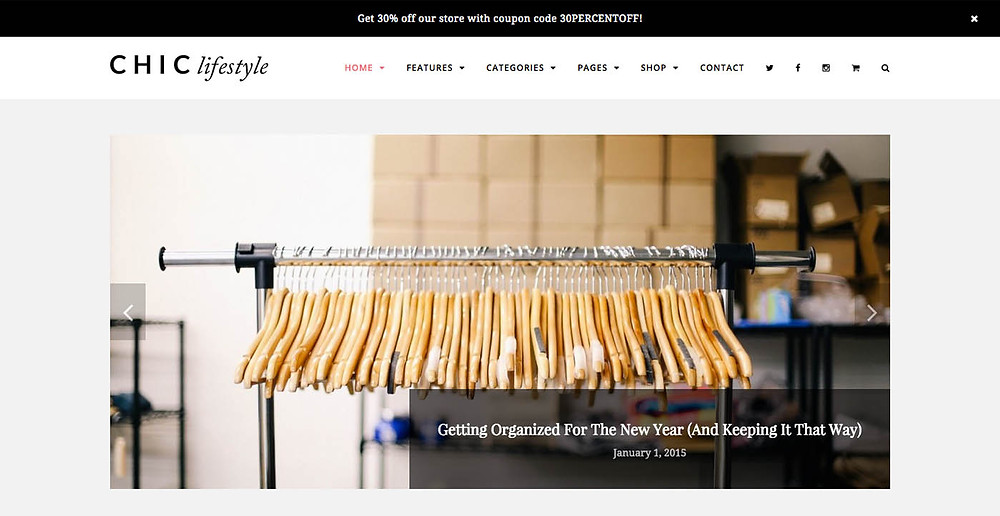 Chic Lifestyle landing page