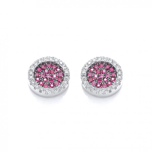 Bailey Red & Clear Studs