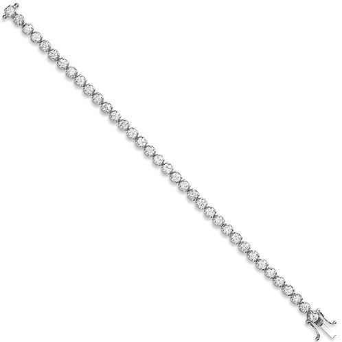 18ct White Gold 5.00ct Diamond Tennis Bracelet