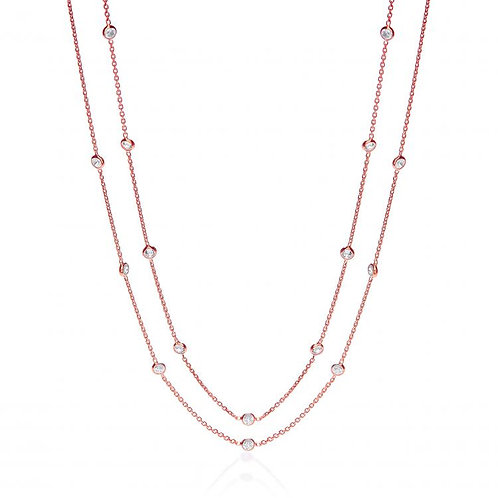 Giovanna Shirelle Rose Gold Plated Necklace