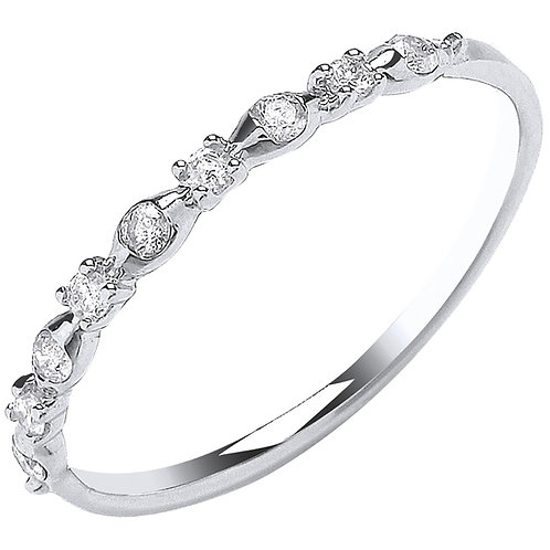 9ct White Gold 0.15ct Diamond Eternity Ring