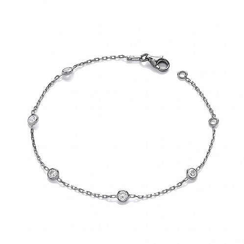 Giovanna Ruthenium Plated Bracelet