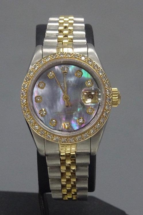 Rolex 26mm Datejust Custom Diamond Dial & Bezel