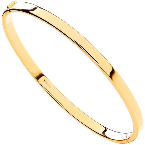 9ct Yellow Gold Hollow Ladies Bangle BN0452