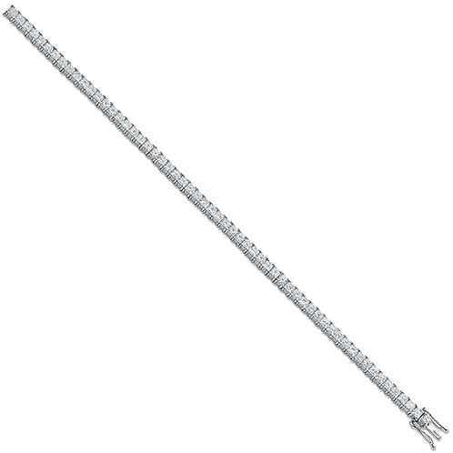 18ct White Gold 5.00ct Princess Cut Diamond Tennis Bracelet
