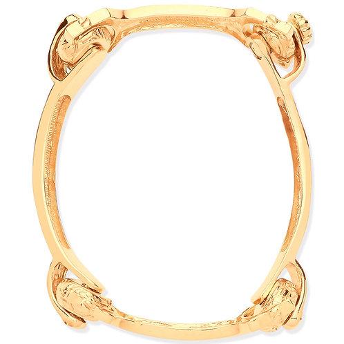 9ct Yellow Gold Bone Baby Bangle BN0444