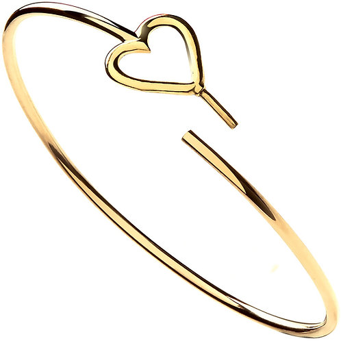 9ct Yellow Gold Hollow Tube Ladies Bangle BN0438