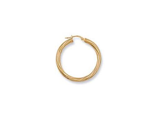 9ct Twist Hoop Earrings
