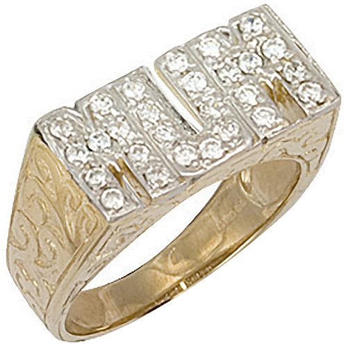 9ct YG Cz MUM Ring