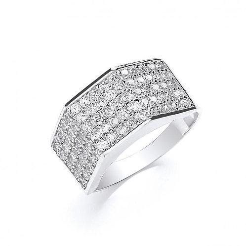 9ct WG CZ Ring