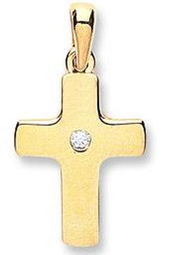 9ct CZ Cross