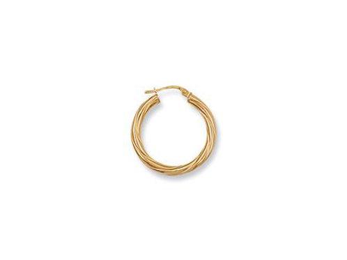 9ct Twisted Hoop Earrings
