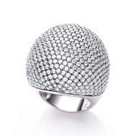 Valentina Clear Cocktail Ring