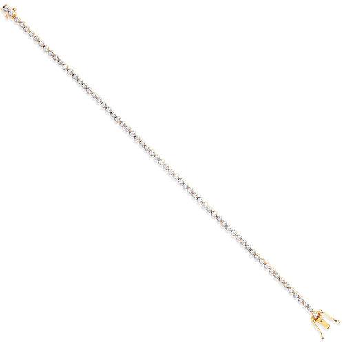 18ct Yellow Gold 1.00ct Diamond Tennis Bracelet