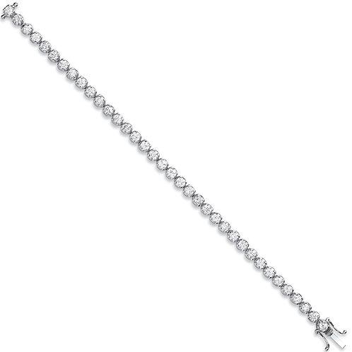 18ct White Gold 7.00ct Diamond Tennis Bracelet