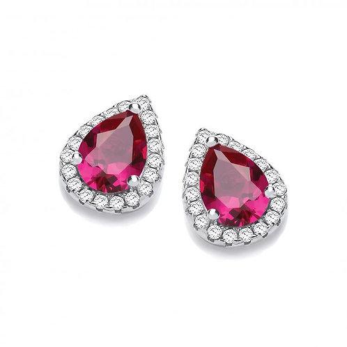 Dinah Red Earrings