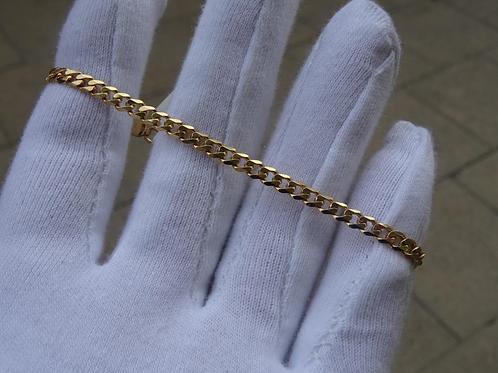 9ct Y/G curb bracelet