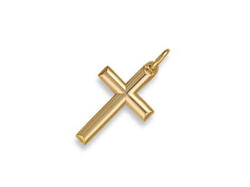 9ct Round Tubed Cross