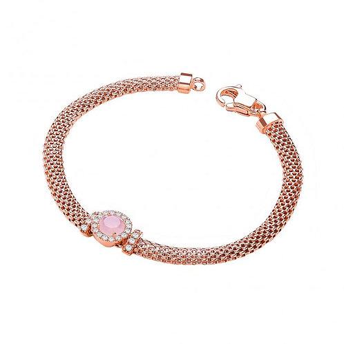 Fleur Rose Gold Plated Bracelet
